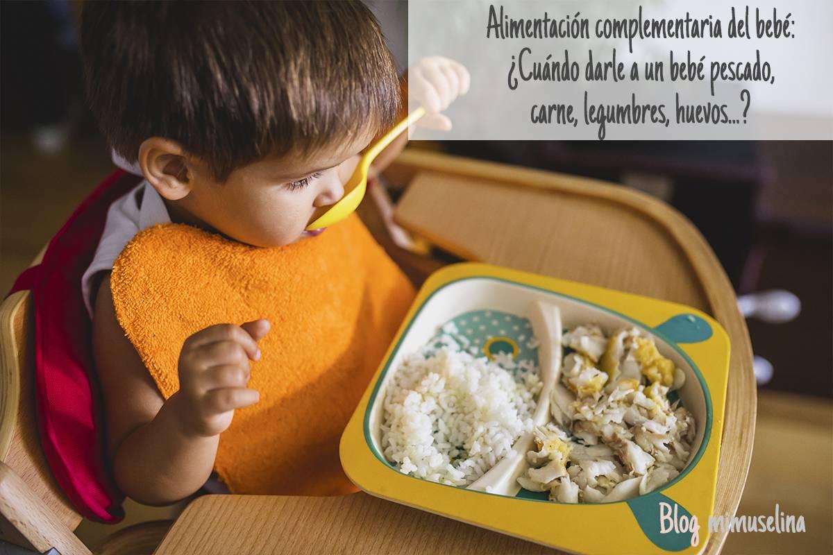 alimentación complementaria bebés cuando dar carne pescado