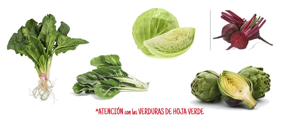 verduras hoja verde alimentación complementaria bebe