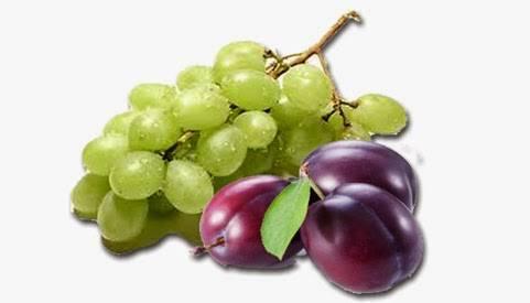Alimentación complementaria introducción de la fruta ciruela y uva bebé