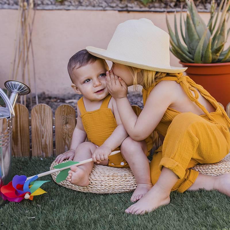 mono bambula bebé protección solar bebés