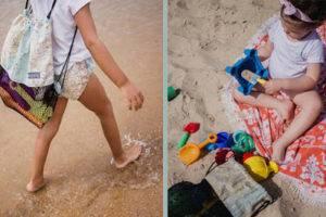Mochila de red vacia arena especial playa bebé mimuselina mochilas mapamundi redes juguetes playa y parque