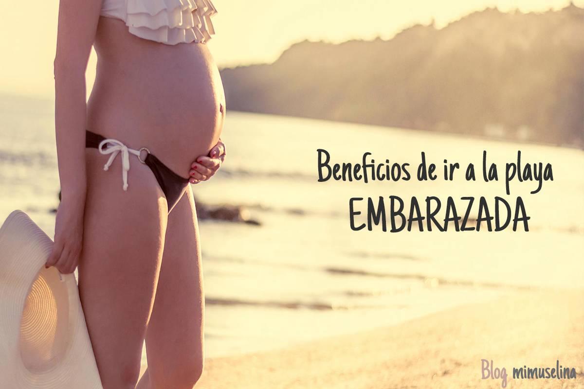 Beneficios de ir a la playa embarazada