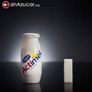Actimel cantidad de azúcar que contiene peligro del exceso de azúcar en la dieta de bebés y niños