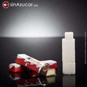 Azúcar que contienen dos barritas de Kinder chocolate peligro exceso azúcar en dietas infantiles