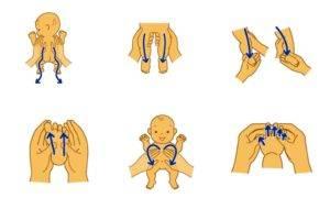 Técnicas de masaje con bebés