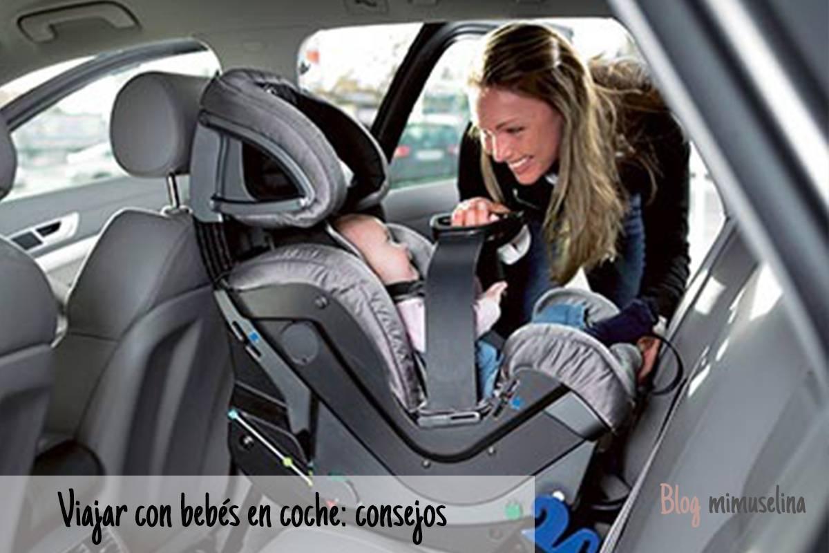 Consejos para viajar con los bebés en el coche