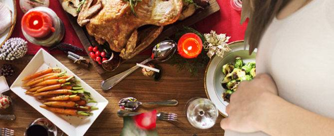 Menus navideños para embarazadas, qué comer y qué no