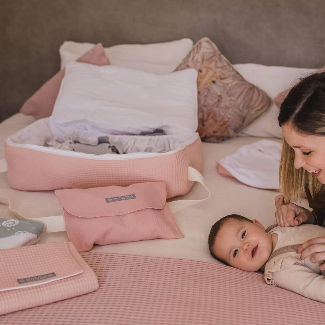 Maleta hospital bebé, bolsa de tela para dar a luz cosas del bebé
