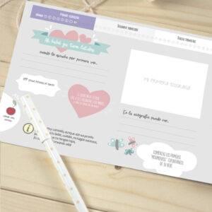 Libro diario del embarazo, agenda para embarazadas bebé semana a semana Mimuselina