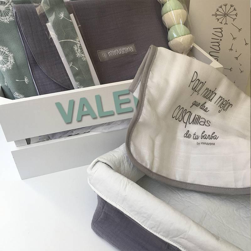 canastilla original para bebé, caja personalizada regalo recién nacido Mimuselina