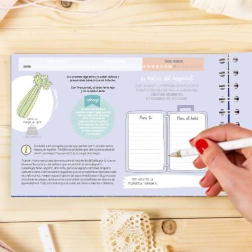 libro diario de recuerdos del embarazo Mimuselina