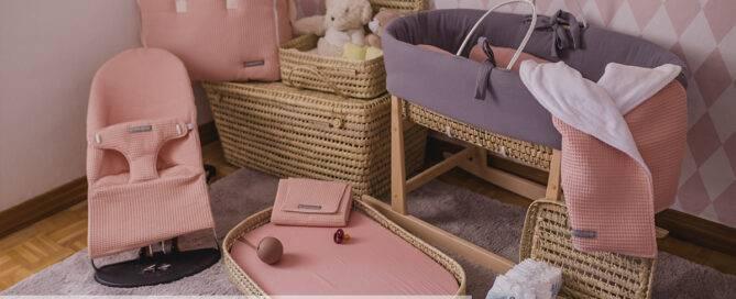 Tendencias decoración infantil: palma y colores lisos colección primavera verano 2021 mimuselina