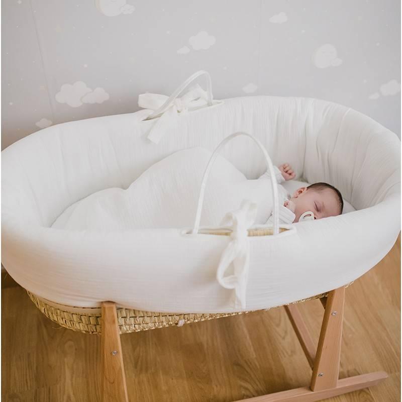 ventanas de sueño bebé moises capazo de palma vestiduras blancas muselina