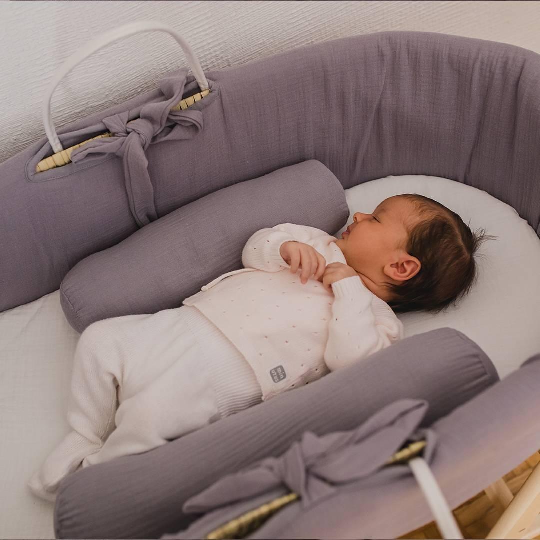 Moises bebé con antivuelco