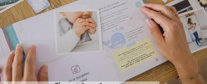 Un libro del primer año del bebé álbum de fotos con mucha información